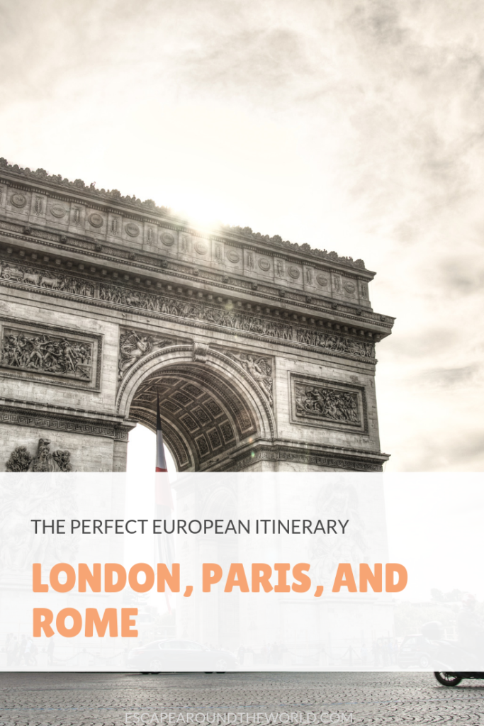 Itinerary: London, Paris, and Rome - Escape Around The World